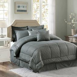 10-Piece Comforter Set Reversible Bedding  Bed Sheets King/C