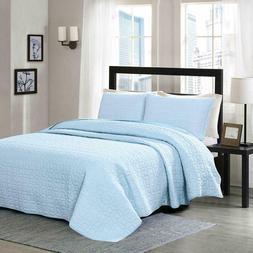 100% Cotton Quilt Set Bedspread Lightweight Bed Coverlet, Bl