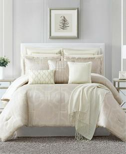 Pem America 14 Piece Queen Comforter Set Saybrook Silver T97
