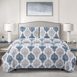 2/3 Piece Bed Quilt Coverlet Set Twin Full/Queen King with S