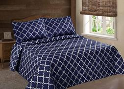 2/3PC BED BEDSPREAD QUILT SET COVERLET MODERN  IN 4 SIZES LA