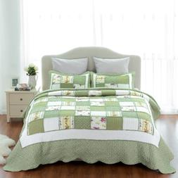 Bedsure 2-Piece Printed Quilt Set Twin Size 68x86 inches, Gr