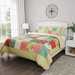 Bedford Home 2-Piece Quilt Bed Set – Hypoallergenic Polyes