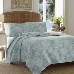 Tommy Bahama 220118 Tidewater Jacobean Reversible Quilt Set,