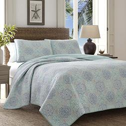 Tommy Bahama 220124 Wharton Landing Reversible Quilt Set, Tw