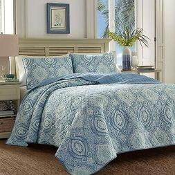 Tommy Bahama 220636 Turtle Cove Caribbean Quilt Set, Full/Qu