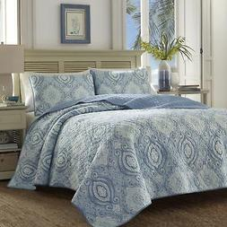Tommy Bahama 220637 Turtle Cove Caribbean Quilt Set, King, H
