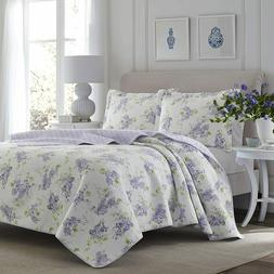 Laura Ashley Keighley Lilac Quilt Set Full/Queen