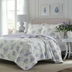 Laura Ashley Keighley Lilac Quilt Set King