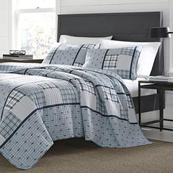 Eddie Bauer 221106 Windermere Reversible Quilt Set, King, Wi