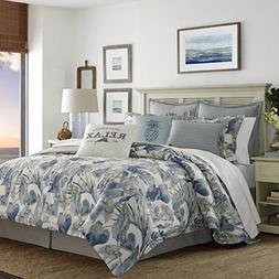 Tommy Bahama 221193 Raw Coast Comforter Set, King, Blue