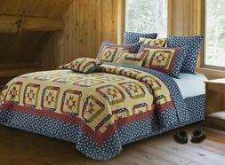 VIRAH BELLA 3-PC KING QUILT SET - STAR GAZING Patchwork Phyl