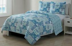 VCNY Home 3-pc. Patchwork Sealife Quilt Set