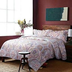 Bedsure 3-Piece Bedding Quilt set Coverlet King size 106x96