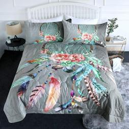 BlessLiving 3 Piece Boho Comforter Set with Pillow Shams–B