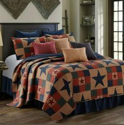 Virah Bella 3 Piece Mountain Cabin Stars Rustic 3 Piece Quil