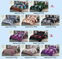 3-Piece New Linen Plus Collection Bedspread Quilt Coverlet S