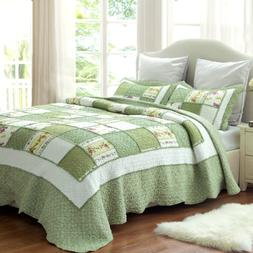 Bedsure 3-Piece Printed Quilt Set Queen/Full Size 90x96 inch
