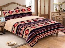 3 piece queen size horse comforter set