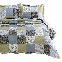 Bedsure 3-Piece Quilt Set Coverlet King Size  Multi Plaid)