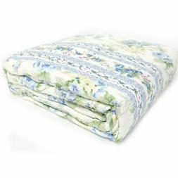 Gold Coast 3 Piece Quilt Set in Blue Floral - Full