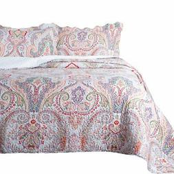 Bedsure 3 Piece Quilt Set Queen/Full Size , Marrakesh Paisle