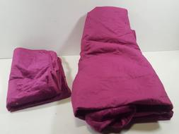 VCNY Home 3 Piece Solid Velvet Quilt Set, King, Rasberry