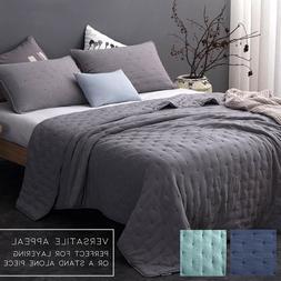 3 Pieces Hypoallergenic Ultra Soft Quilt Bedspread Blanket C