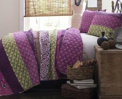 3pc ROYAL EMPIRE PLUM QUILT SET King or Queen Floral Flower