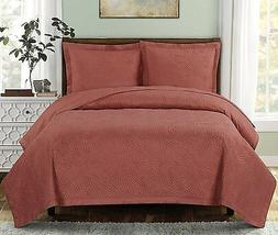 3PC Set Emerson OVER-SIZED Quilt Luxury Wrinkle Free Microfi