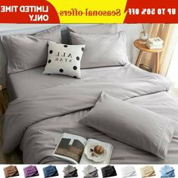 "4 6 Piece 1800 Count Bed Sheet Set 14"" Deep Pocket Comforter"