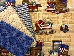 4 Yard Set AMERICAN VALOR 4 Pieces Quilt Fabric Patriotic by