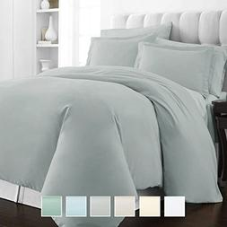 400 Thread Count 2 Piece Duvet Cover Set, 100% Long Staple C