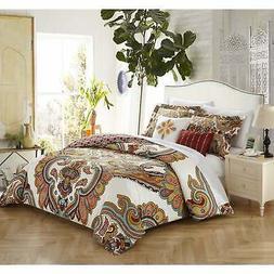 Chic Home 5-piece Hendra Cotton Reversible Comforter Set