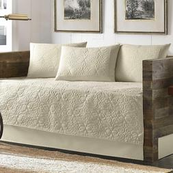 Tommy Bahama 5 Piece Quilted Daybed Cover Set Ivory
