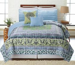 5 Piece Wild Sattika Reversible Oversized Quilt Bedspread Co