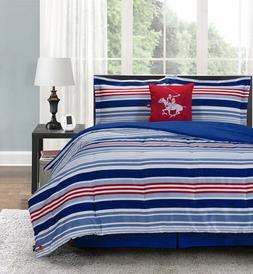 Beverly Hills Polo Club 5 Pieces Comforter Set Luxury Soft M