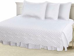 5 Pieces Daybed Set 1 Bed Skirt 3 Pillowcases 1 Quilted Beds