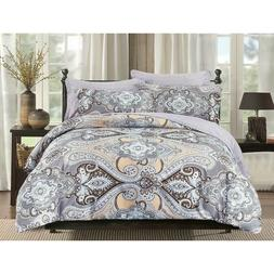 5 Pieces Microfiber Bedding Comforter Set Bed In A Bag Queen