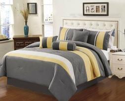 Chezmoi Collection 7-piece Sunvale Yellow Grey White Comfort