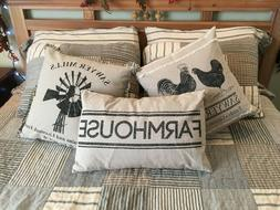 8-Piece King Size Country Mill Farmhouse Patchwork Quilt Bed