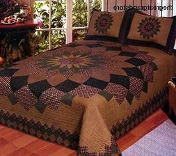 American Hometex Alexandra Dahlia Queen Quilt Set
