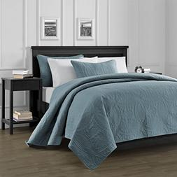 Chezmoi Collection Austin 3-Piece Oversized Bedspread Coverl