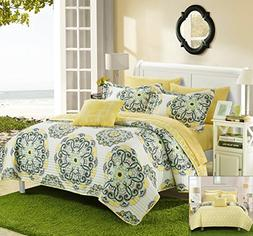 Chic Home Madrid 4 Piece Reversible Quilt Set Super Soft Mic