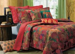 Greenland Home 5-Piece Jewel Bonus Quilt Set, King