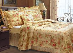Greenland Home Antique Rose Full/Queen Quilt Set