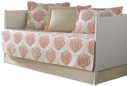 Laura Ashley 5-Piece Coral Coast Daybed Cover Set, Twin, Flo