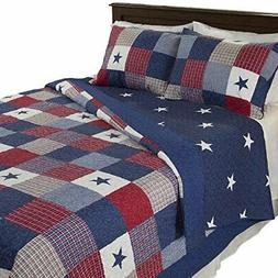 Lavish Home Caroline 2 Piece Quilt Set - Twin