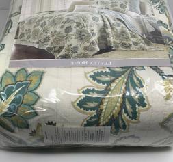 Levtex Palladium Grey Full/Queen Cotton Quilt Set Cream, Gre