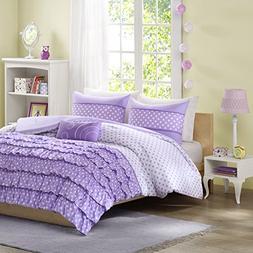 Mi-Zone Morgan Comforter Set Full/Queen Size - Purple, Polka